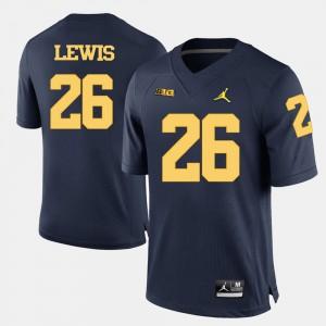 Navy Blue #26 College Football Jourdan Lewis Michigan Jersey For Men 572200-395