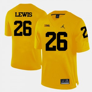 Jourdan Lewis Michigan Jersey #26 College Football Men's Yellow 762306-367