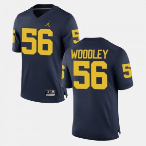 Men's Alumni Football Game #56 Lamarr Woodley Michigan Jersey Navy 323978-804