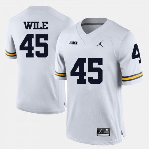 White For Men Matt Wile Michigan Jersey #45 College Football 864871-538