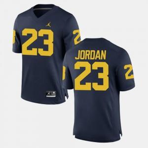 Navy Michael Jordan Michigan Jersey Alumni Football Game For Men's #23 626182-730