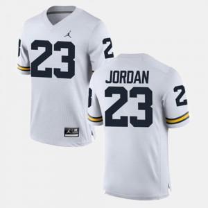 Men Michael Jordan Michigan Jersey White Alumni Football Game #23 573142-870