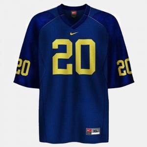 Blue Kids Mike Hart Michigan Jersey #20 College Football 484503-960