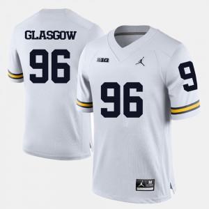 White Men Ryan Glasgow Michigan Jersey College Football #96 549834-115