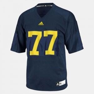 Mens Taylor Lewan Michigan Jersey Blue #77 College Football 187572-159