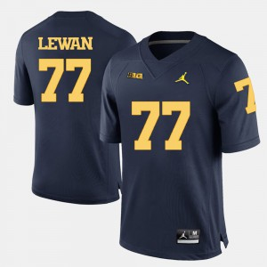 Taylor Lewan Michigan Jersey Navy Blue Mens College Football #77 426357-744