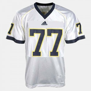 College Football White For Men Taylor Lewan Michigan Jersey #77 534910-481
