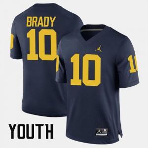 #10 For Kids Tom Brady Michigan Jersey Navy Alumni Football Game 243818-783