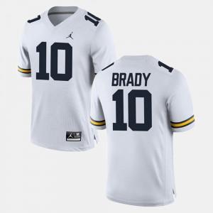White #10 Men Tom Brady Michigan Jersey Alumni Football Game 870221-883
