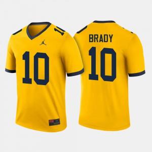 For Men's College Football Maize Tom Brady Michigan Jersey #10 928649-173