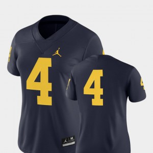 Navy Michigan Jersey For Women's 2018 Game College Football #4 346690-275