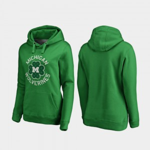 Kelly Green Womens Michigan Hoodie Luck Tradition St. Patrick's Day 396160-488
