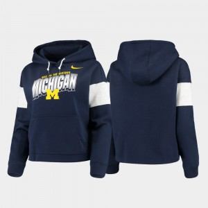 Pullover Local Womens Michigan Hoodie Navy 998902-919