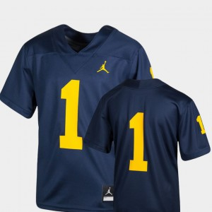 #1 Navy College Football Youth Team Replica Michigan Jersey 909756-332