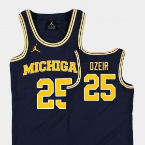 Naji Ozeir Michigan Jersey #25 Navy Replica Youth(Kids) College Basketball Jordan 985670-938