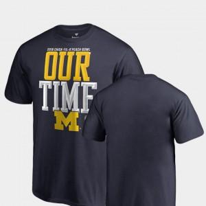 Counter Michigan T-Shirt Navy Youth(Kids) 2018 Peach Bowl Bound 664435-239